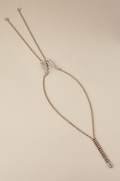 Paris by Debra Moreland Gold Bari Drape Necklace | BHLDN