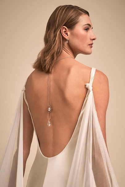Paris by Debra Moreland Gold Shona Back Drape Necklace | BHLDN