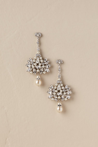 Paris by Debra Moreland Silver Aideen Drop Earrings | BHLDN