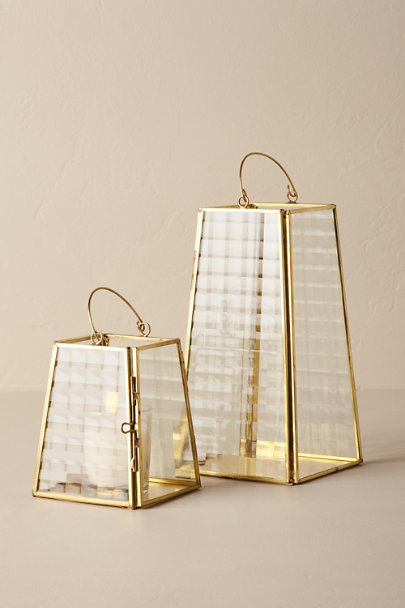 Gold Gold Hurricane Lantern | BHLDN