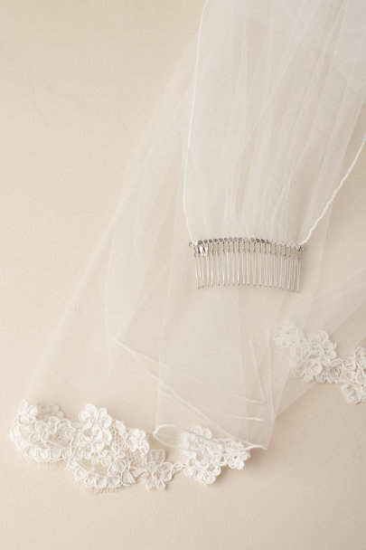 Paris by Debra Moreland Ivory Cambrai Veil | BHLDN