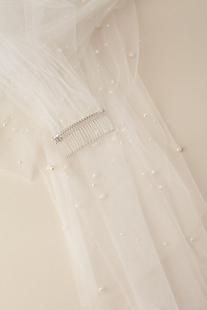 Paris by Debra Moreland Ivory Sanguine Embellished Veil | BHLDN