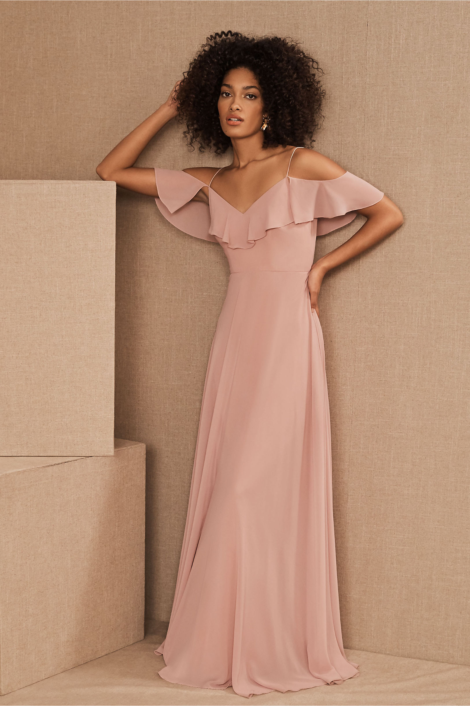 Mila Dress Whipped Apricot in Bridesmaids & Bridal Party | BHLDN