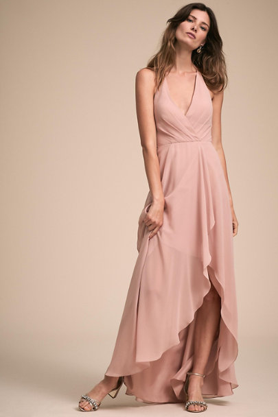 Jenny Yoo Whipped Apricot Farrah Dress | BHLDN