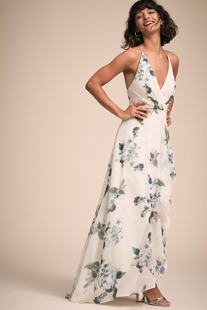 Jenny Yoo Ohana Soft Sage Blue Multi Farrah Dress | BHLDN
