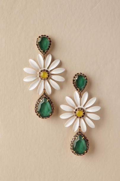 Elizabeth Cole Gold Verdant Daisy Earrings | BHLDN
