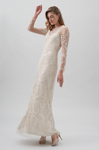 BHLDN Champagne Beyond The Sea Gown | BHLDN