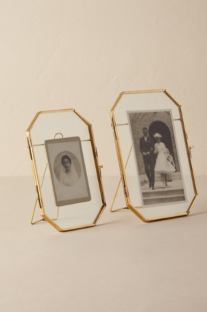 Gold Brass Octagon Frame | BHLDN