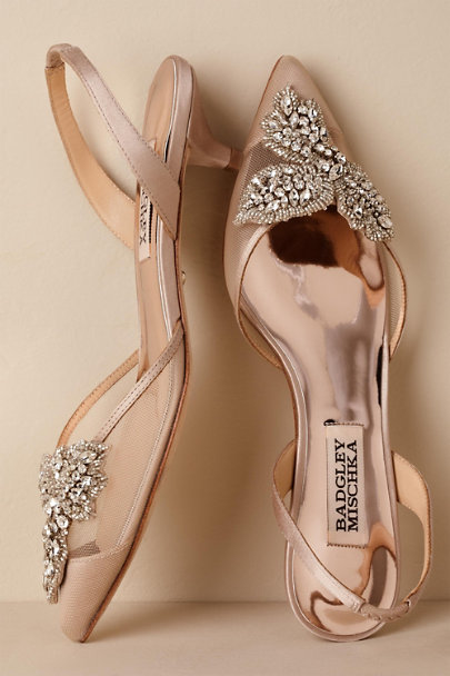 Badgley Mischka Neutral Badgley Mischka Vera Slingback Heels | BHLDN
