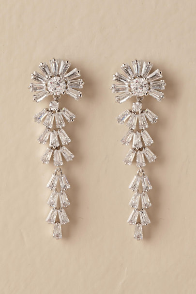 Jardin Silver Aisling Drop Earrings | BHLDN