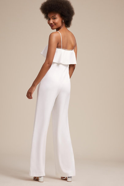 ML Monique Lhuillier Ivory Vanderbilt Jumpsuit | BHLDN