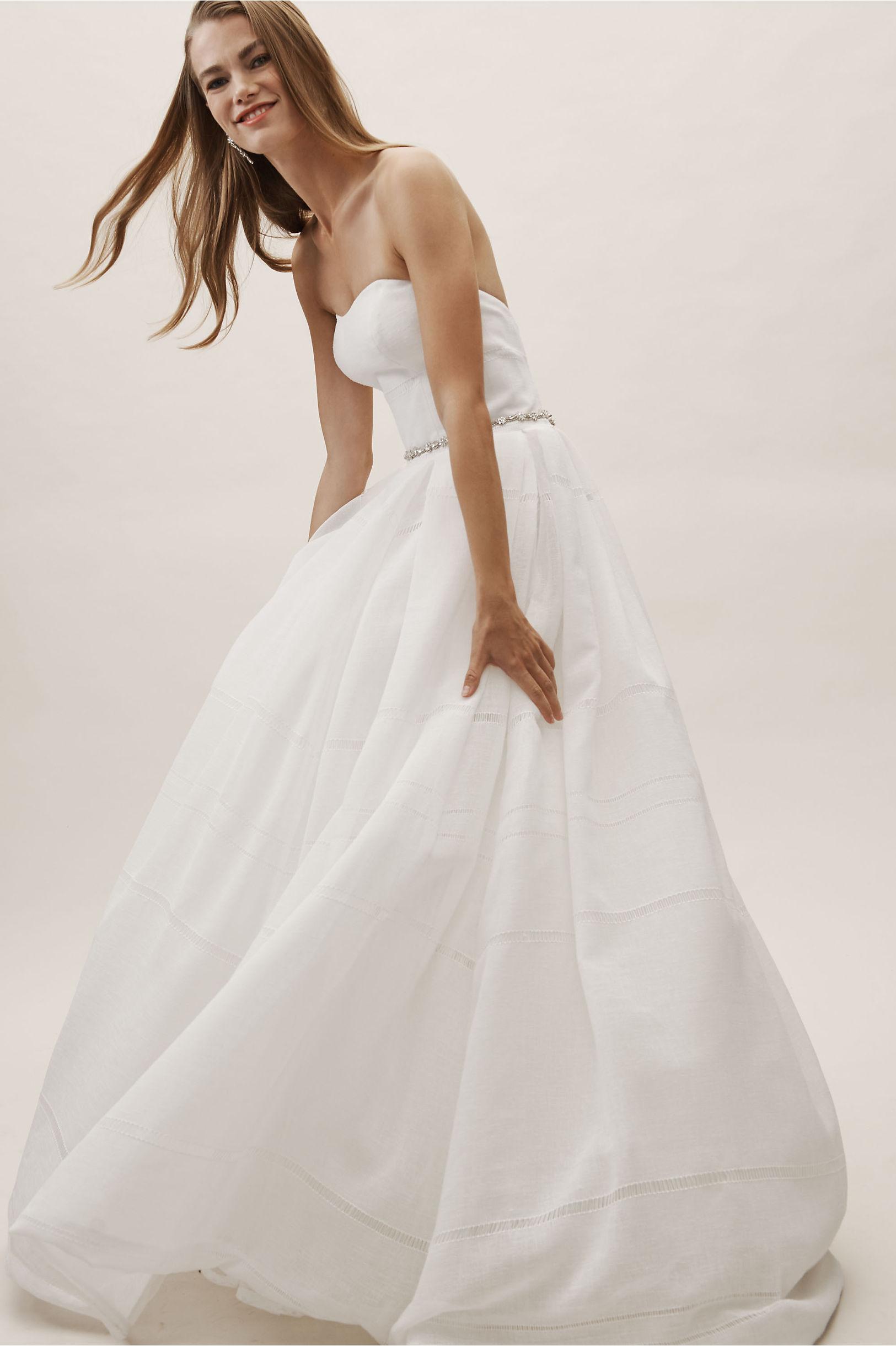 to wear - Linen white wedding dress video
