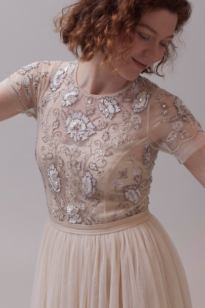 BHLDN Champagne Sakara Dress | BHLDN