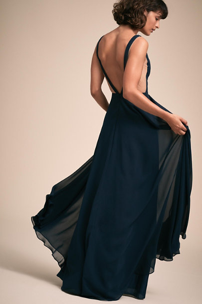 Jenny Yoo Navy Colby Dress | BHLDN