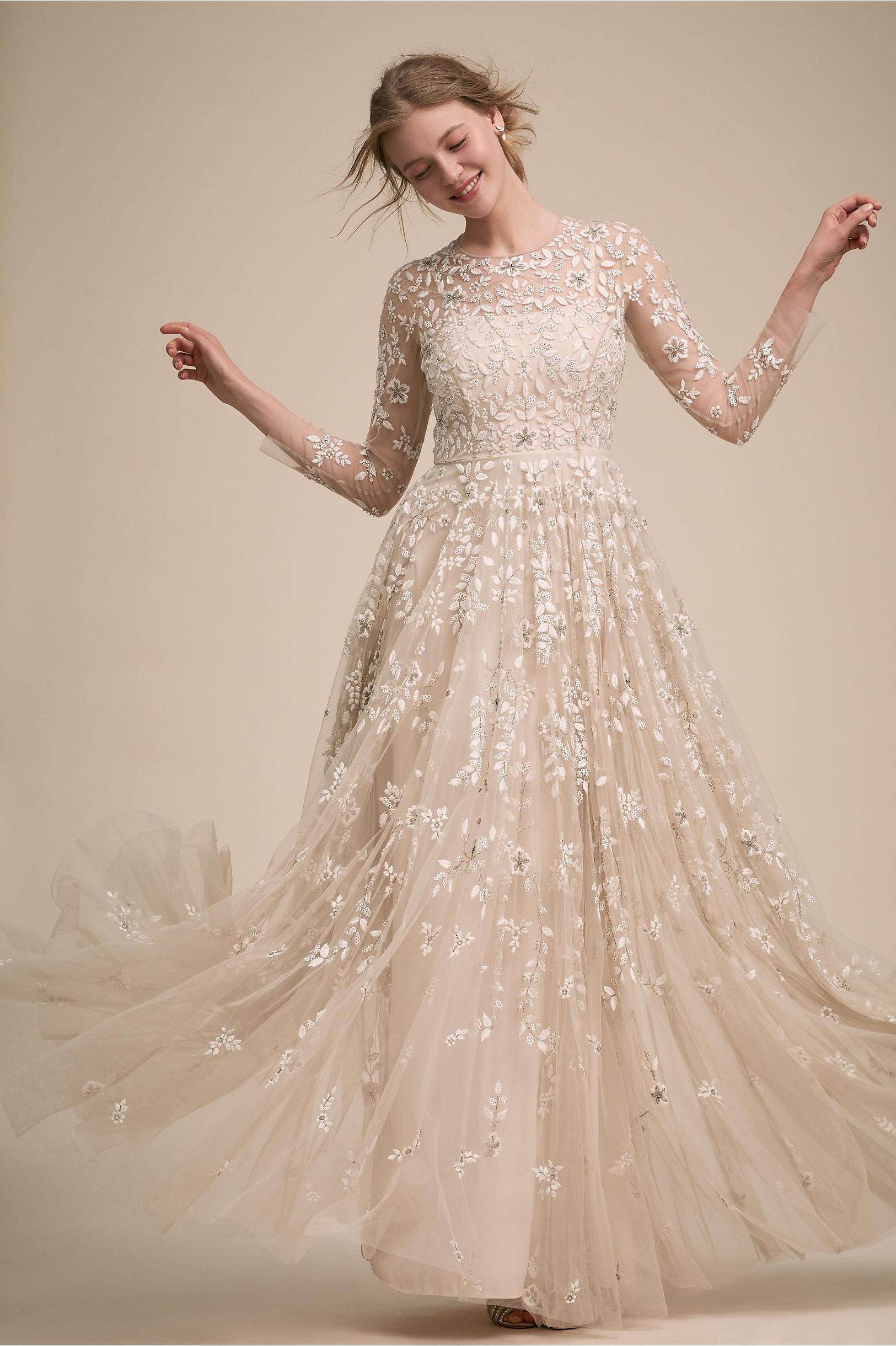 Golden Hour Gown Champagne in Bride | BHLDN