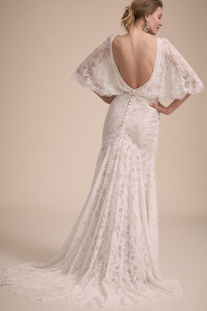 BHLDN Ivory Tres Chic Gown | BHLDN