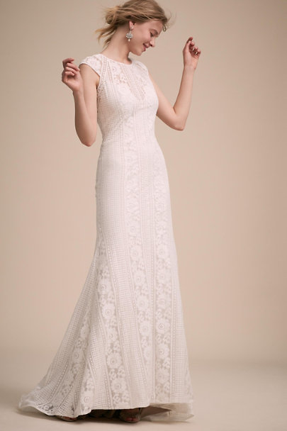 BHLDN Ivory Coming Up Roses Gown | BHLDN