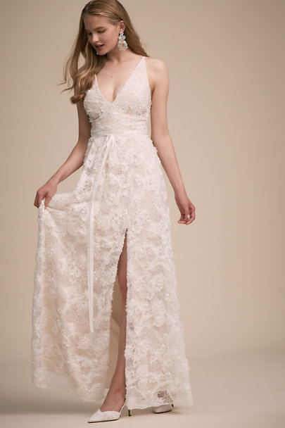 BHLDN Ivory Napa Dress | BHLDN