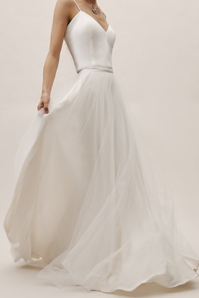 Catherine Deane Ivory Loyola Skirt | BHLDN