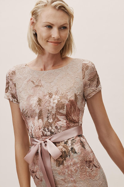 Adrianna Papell Taupe Multi Melinda Dress | BHLDN