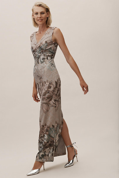 Adrianna Papell Slate Multi Lilliana Dress | BHLDN