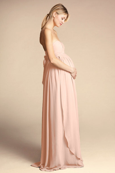 Jenny Yoo Blush Cerise Maternity Dress | BHLDN