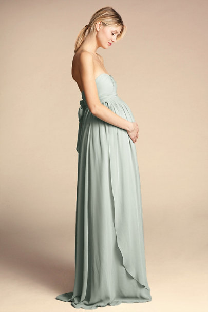Jenny Yoo Morning Mist Cerise Maternity Dress | BHLDN