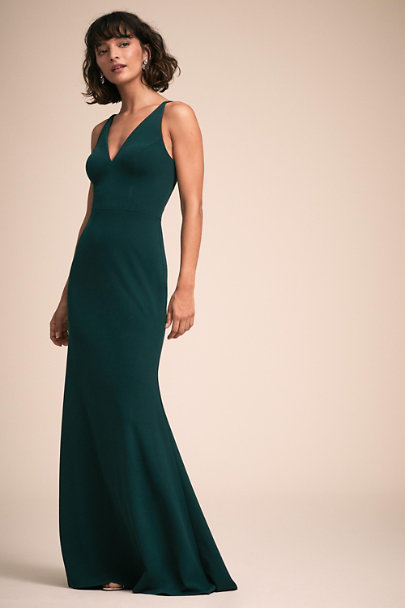 BHLDN Dark Emerald Jones Dress | BHLDN