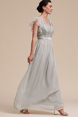 Black Grey Bridesmaid Dresses