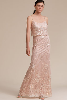 Blush Colored Light Pink Bridesmaid Dresses