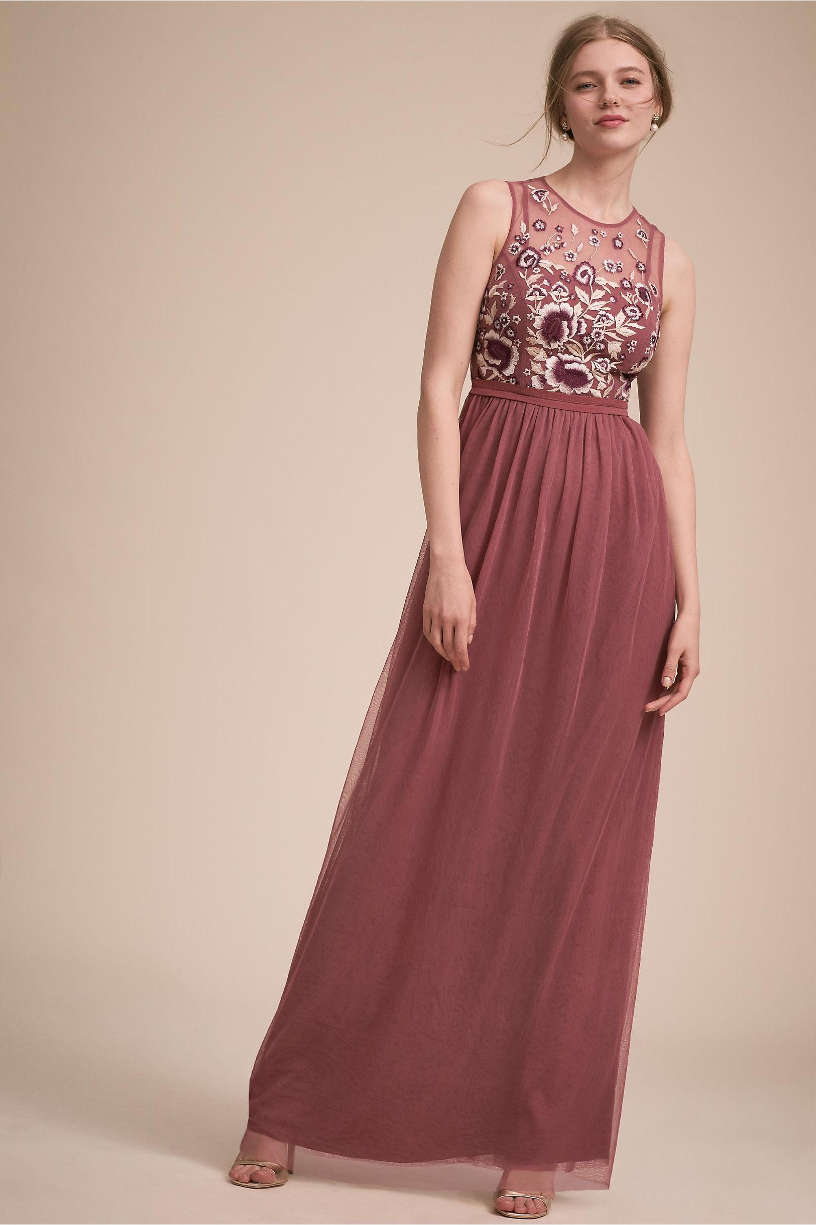 Baldwin Dress Cinnamon Rose in New   BHLDN
