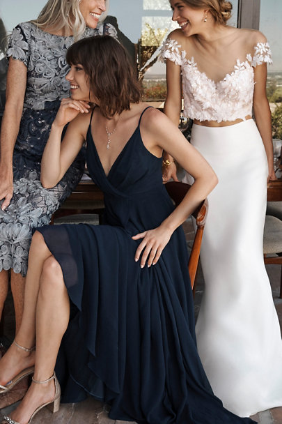 BHLDN Navy Eva Dress | BHLDN