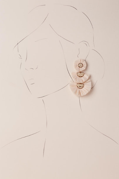 Jardin Pink Dessa Chandelier Earrings | BHLDN