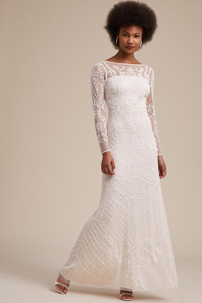 Adrianna Papell Ivory Leon Dress | BHLDN