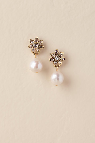 Gold Whitley Drop Earrings | BHLDN