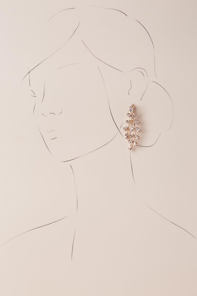 Elizabeth Bower Gold Farron Drop Earrings | BHLDN