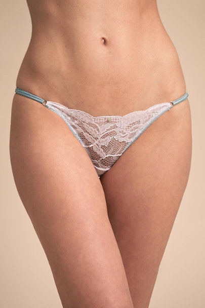 Ivory Fortuna Thong | BHLDN