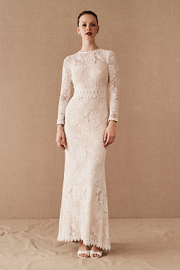 Lace Wedding Dresses & Beaded Wedding Gowns | BHLDN