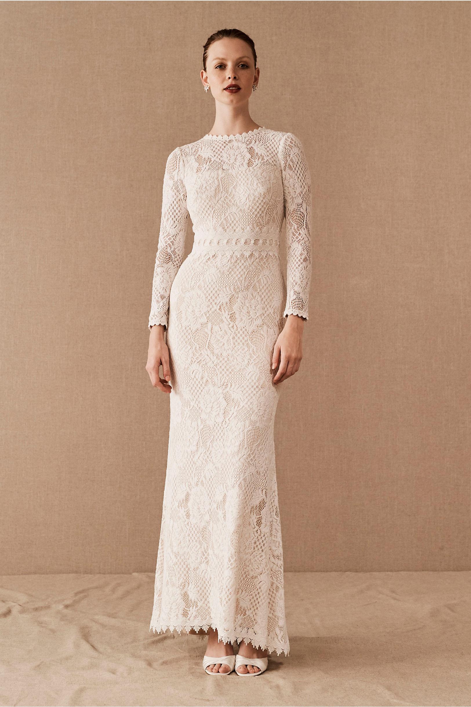 60s Wedding Dresses | 70s Wedding Dresses Tenley Gown $650.00 AT vintagedancer.com