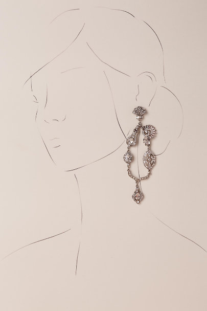 Ben-Amun Silver Sinead Chandelier Earrings | BHLDN