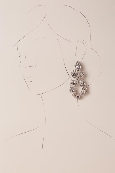 Kenneth Jay Lane Silver Wallis Chandelier Earrings | BHLDN