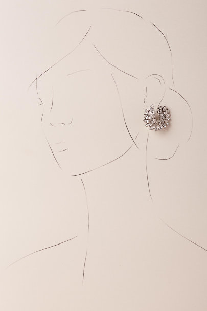 Kenneth Jay Lane Silver Harmonie Earrings | BHLDN
