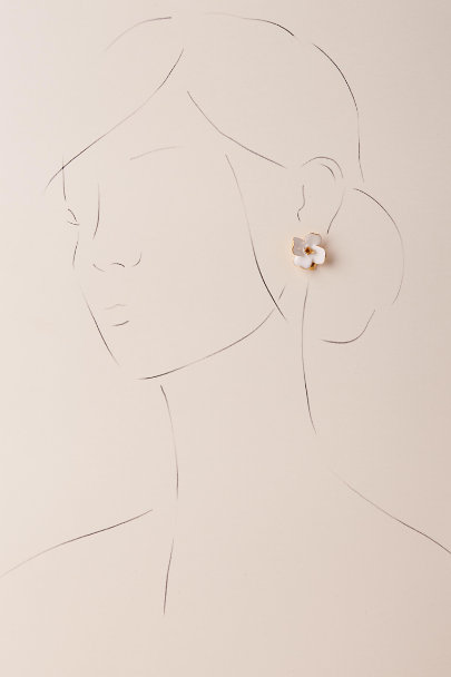 Kenneth Jay Lane Gold Hennie Earrings | BHLDN