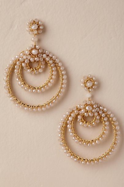Gold Ellora Hoop Earrings | BHLDN