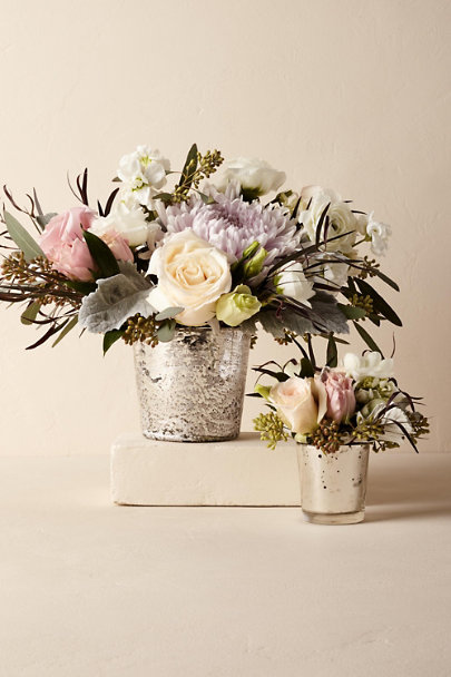 Silver Dappled Sky Vase | BHLDN
