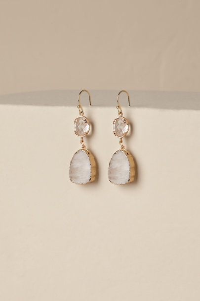Gold Elia Drop Earrings | BHLDN