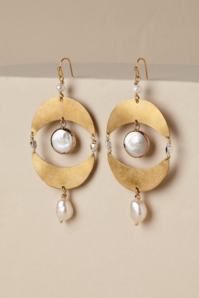 Gold Emmi Chandelier Earrings | BHLDN
