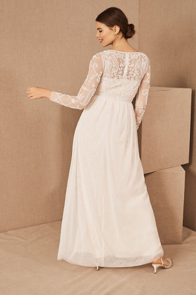 BHLDN Ivory/Champagne Sinclair Dress | BHLDN