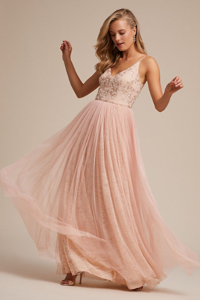 Adrianna Papell Blush Cluny Dress | BHLDN