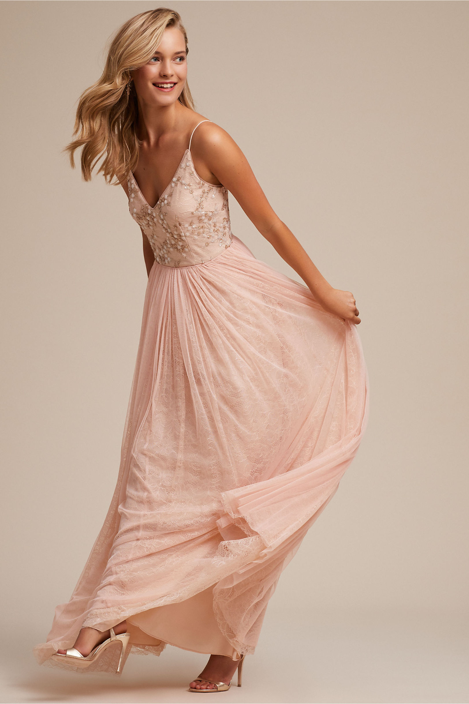 32a580a4b595 Cluny Dress Blush in Sale | BHLDN